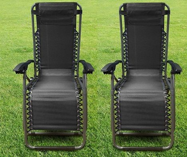 Streetwize Black Zero Gravity Chair x 2
